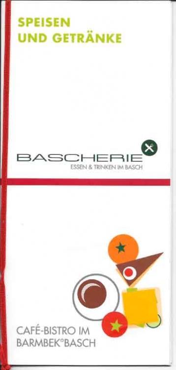 Titelbild der Bascherie-Speisekarte